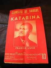 Partition Claveles de Sangre Katarina Francis Luca 1959 Music Sheet