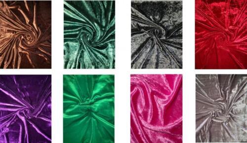 Crush Velvet Soft Quality Fabric Quality Stretch Material