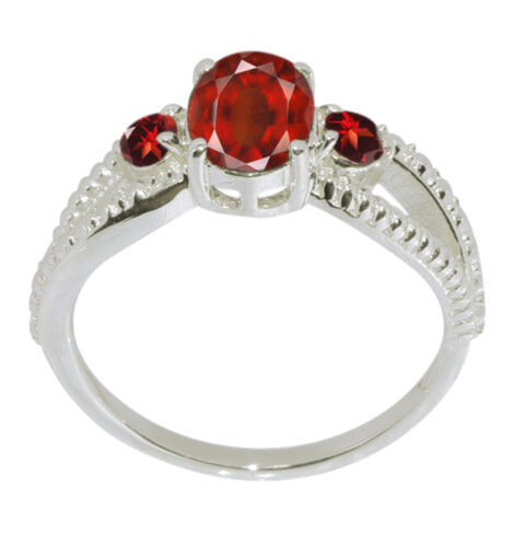 Details about  /Red Party Wear Garnet Stone 925 Sterling Silver Split Shank Band Ring Size-7