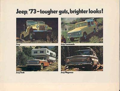 1973 Jeep Commando Universal Wagoneer Brochure 3966-5H6V6G
