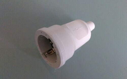 6 Tlg ABL 3 x Kupplung 3 x Stecker weiß PVC Schuko Kupplung und Stecker weiß