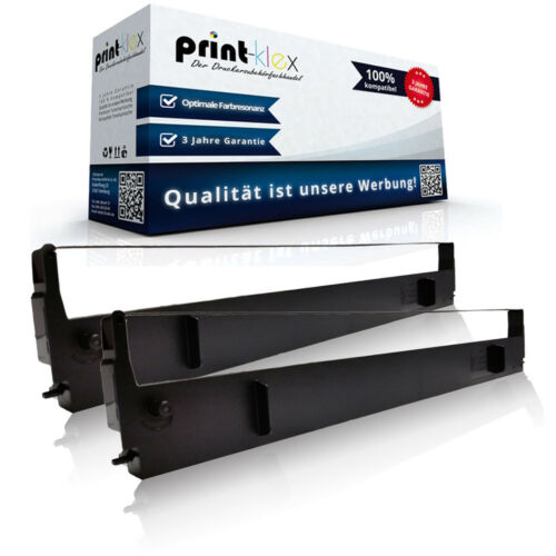 2x Kompatibel Farbbänder für Epson LQ 1000 Schriftband Patronen-Easy Print Serie