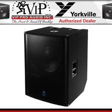 "Yorkville LS2100PB Active Pro 21"" Powered Subwoofer 3600W Black Ultrathane Paint"