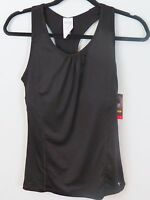 Danskin Dri More Shelf Bra Racer Back Black Fitted Tank Size S 4/6