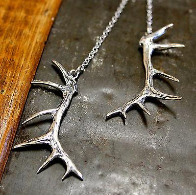 Silver Ram Skull Necklace 012