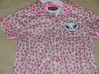 3t 4t Girls Toddler 2 Piece Kitten Cheetah Leopard Print Pants Top Soft Pajamas