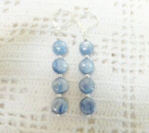 Beautiful-6MM-Long-Blue-Kyanite-Earrings-in-Sterling-Silver