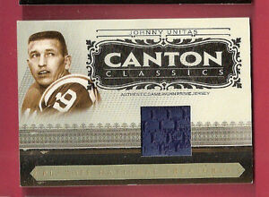 JOHNNY-UNITAS-2006-NATIONAL-TREASURES-GAME-USED-JERSEY-PATCH-CARD-d10-19-bv-75