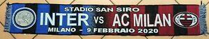 INTER-vs-MILAN-MILANO-09-02-2020-SCIARPA-SCARF-BUFANDA-UFFICIALE-ORIGINALE