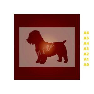 GLEN-of-IMAAL-TERRIER-Dog-Stencil-350-micron-Mylar-not-Hobby-stuff-DOGS066