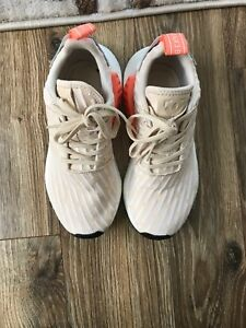 fd300f08a Adidas NMD R2 PK Linen Beige Women s Primeknit Shoes Size 5.5 BA7260 ...