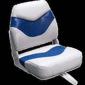 Plush Fishing Boat Seats Gray and Blue