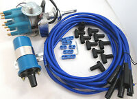 Sb Mopar Ready To Run Distributor Kit W/ Round Coil Dodge 318 340 360 Chrysler