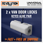 Universal Van Door Dead Locks White Twin Pack Fits Rear//Side Doors Van Security