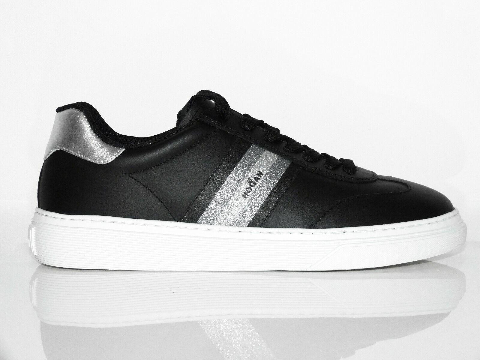 Hogan Par TOD'S Chaussures Femmes Baskets H365 Noir Chaussures Noir Eu 40 Neuf