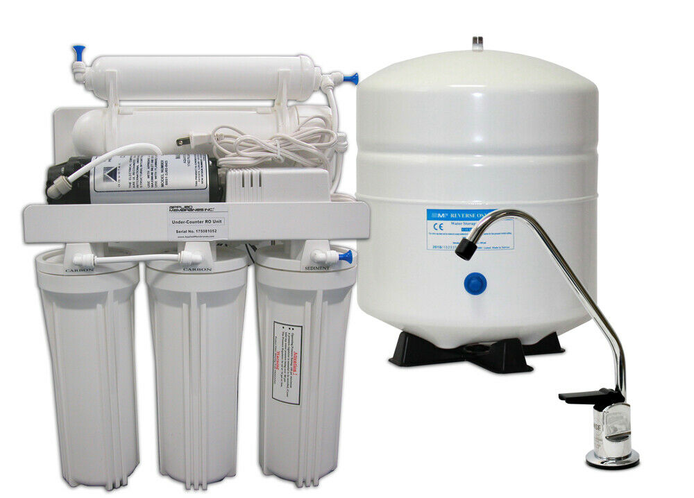 75 GPD Reverse Osmosis Water Filtration System + Booster Pump  5 Stage RO FILTER