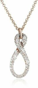 Esprit-Damen-Halskette-Erisis-Schmuck-Mode-rosegold-Silber-rhodiniert-Zirkonia