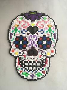 Détails Sur Pixel Art Perles A Repasser Tete De Mort 1