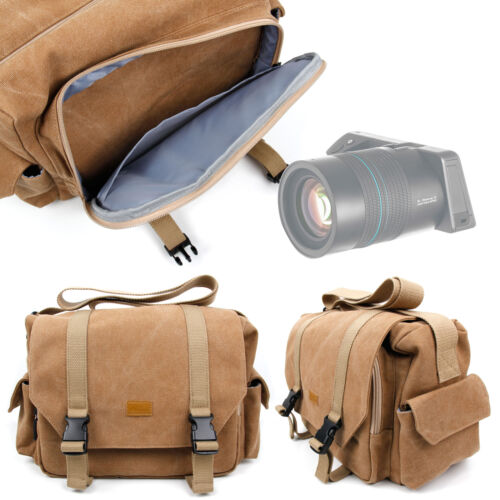 Tan-brown Bolsa de transporte para Lytro Illum-con Personalizable compartimento interior
