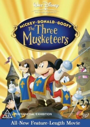 1 of 1 - The Three Musketeers - Mickey, Donald & Goofy (DVD, 2004)