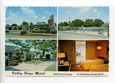 "St Petersburg FL Florida multi view, Valley Forge Motel, cars, people, 4"" X 6"""