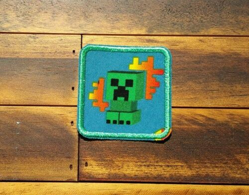Patch Iron-On Minecraft Creeper Embroidered Video Game Lego Man