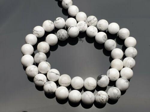 Strang howlita 46 unid Edelstein Gemstone perlas blanco alrededor de bala 8 mm