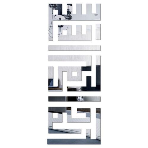 3D Acryl Muslim Spiegel Wandaufkleber Abnehmbare Home Room Wandtattoo Dekor DIY