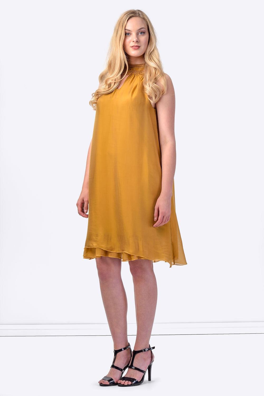 NWT COCONUDA ITALY damen Silk Summer Dress Beach Smart Casual Größe M AU 10 12
