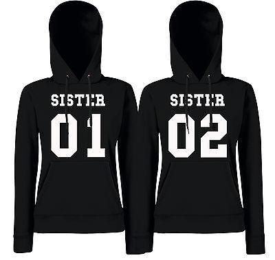 SISTER 01//02 Girlie Partner Hoodies - Best Friends Freundinnen Schwestern 2
