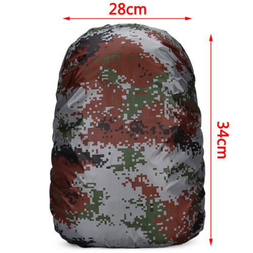20L Camouflage Rain Cover Backpack Waterproof Bag Outdoor Camping Hiking Spor/_UK