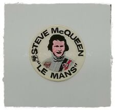 """STEVE McQUEEN """"LE MANS"""" Patch Sew Iron On Embroidered Automobile Racing Logo New"""