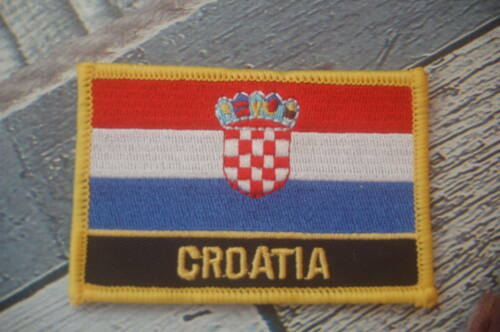 Kroatien Aufnäher Aufbügler Patch Schrift Flagge