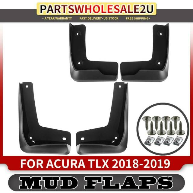 4x Stoneguard Splash Guards Mud Flaps For Acura TLX 2018