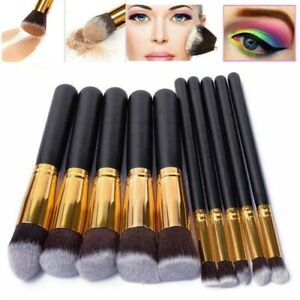 10tlg-Profi-Kosmetikpinsel-Make-up-PinselSet-Schminkpinsel-Gesichtspinsel-Set