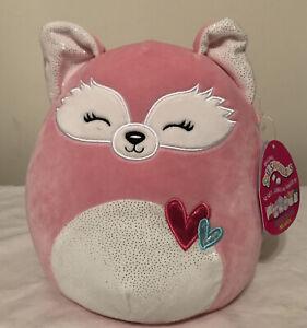 "Squishmallows 8/"" /& 3.5"" Keychain Flora  FOX 2021 Valentine Ultra Soft Plush NWT"