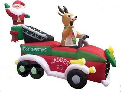 Fire Truck Inflatable Christmas Decorations  from i.ebayimg.com