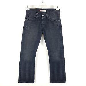 Levi-039-s-Jeans-512-0773-Herren-W31-L32-Schwarz-Grau-Bootcut-Faded-Raritaet