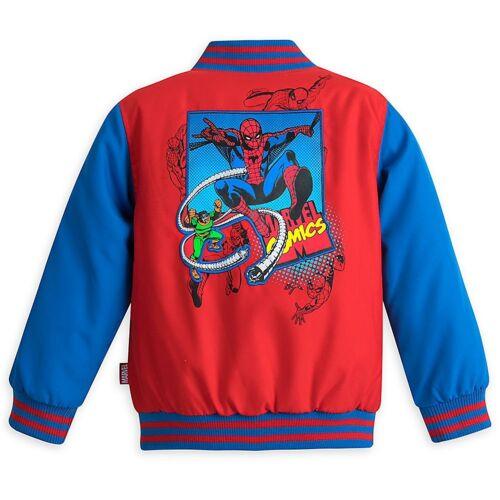 Disney Store Marvel Spider-Man Boy Varsity Jacket Size 5//6
