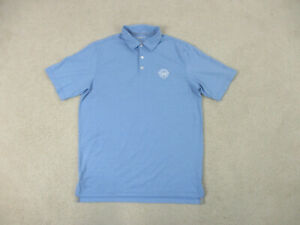 Johnnie O Polo Shirt Adult Large Blue White Surfer Surfing Casual Rugby Mens
