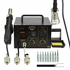 Aoyue 888a 2 In 1 Digital Hot Air Rework And Soldering Station Black