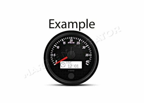 "Tachometer 5000 RPM 100 mm 4/"" White Illumination VDO SingleViu"