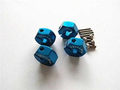 Aluminum Hex Adapter 12MMx6MM 2MM Pins 4MM Middle Hole For TAMIYA CC01 TT01