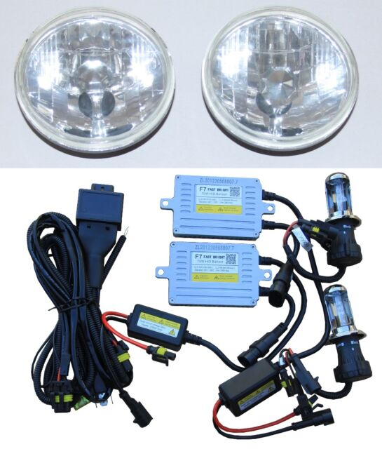 Headlights for Toyota Landcruiser 45 47 55 70 75 series with 70W HID Hi/Lo KIT