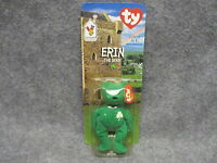 1999 Mcdonald's Ty Teenie Beanie Babies Baby Erin The Bear In Blister Pack