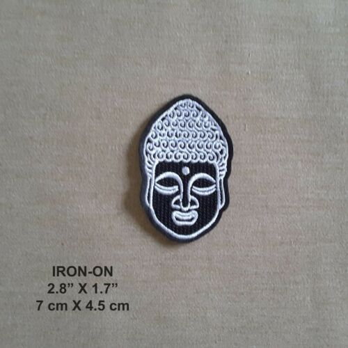Budha Embroidered Iron-On PATCH Luck Dharma Wheel Asian Dragon Applique