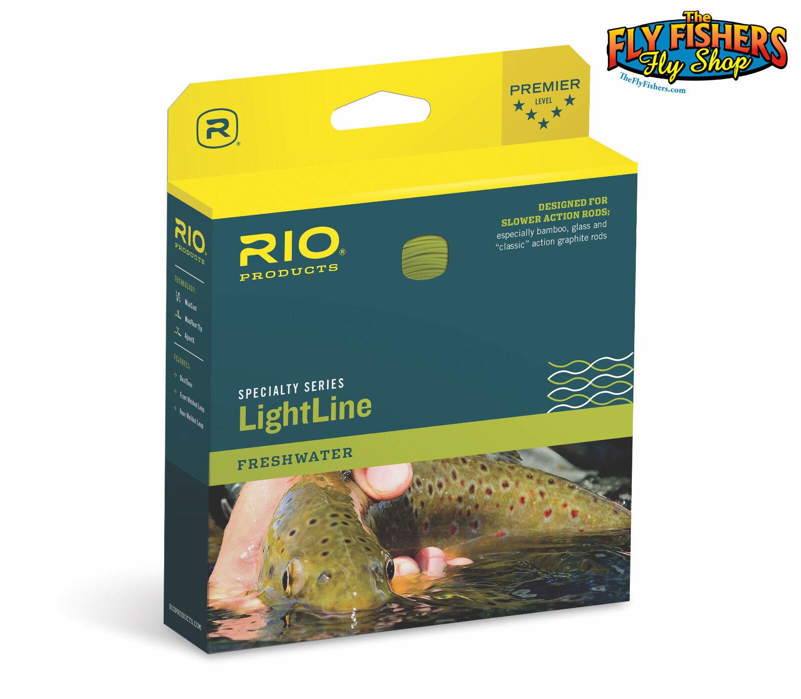 RIO LightLine WF Floating Fly Line - WF5F 5wt - Brown Ivory - FREE SHIPPING
