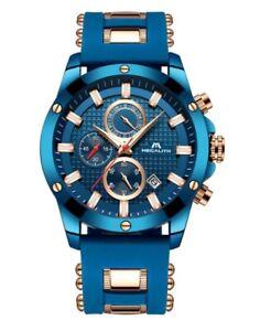 Reloj-Cronografo-MEGALITH-0140-Cuarzo-Japones-Impermeable-Luminoso-Fashion-8042