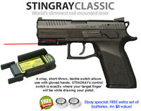 ArmaLaser Stingray RED LASER Sight for CZ P-07, P0-9, P-01, P-06, 75 SP-01 Guns