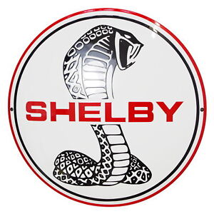 Enamel-plaque-SHELBY-50-cm-WARRANTY-10-ys-collectable-sign-logo-plate-emblem